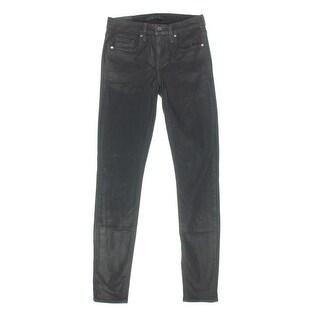 Genetic Womens Stem Denim Shimmer Skinny Jeans