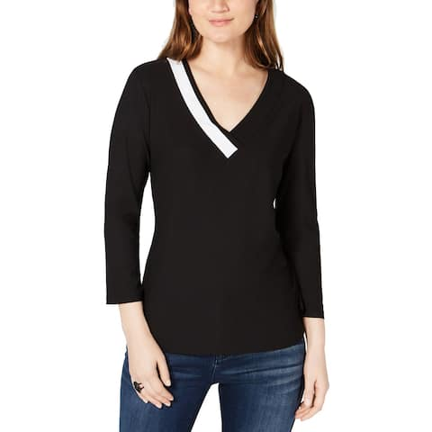 INC International Concepts Women's Colorblocked Top (M)