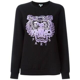 Kenzo Womens Black Icon Tiger Embellished Sweatshirt - M
