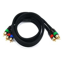 Monoprice 3ft 18AWG CL2 Premium 3-RCA Component Video/Audio RG-6/U Coaxial Cable - Black