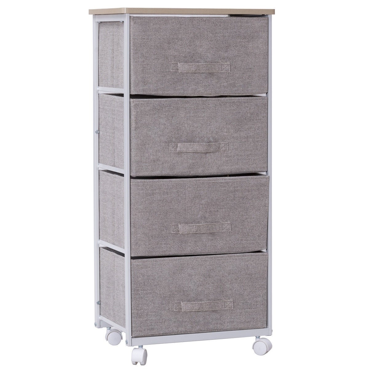Gymax Fabric 4 Drawer Storage Unit Cart Organizer Shelf Laundry Bedroom Nursery Office - As Pic - Overstock - 20714596