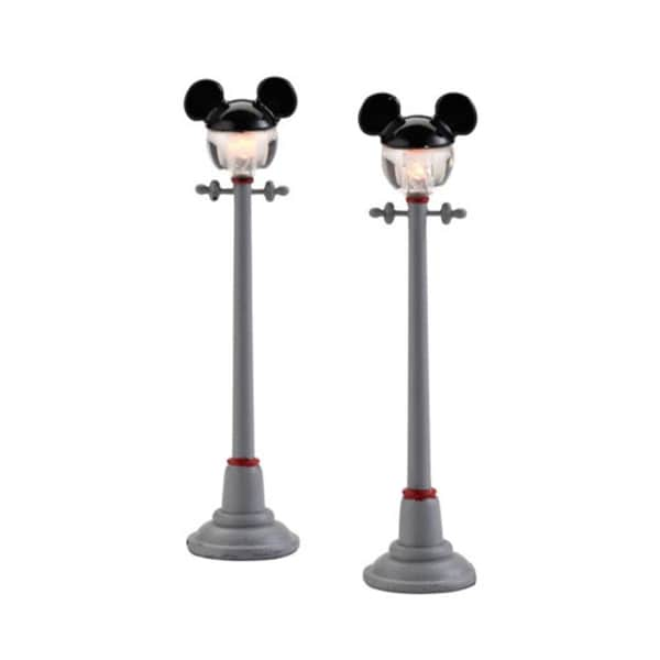"Department 56 Disney LED Lighted ""Mickey Street Lights"" 2-Piece Set #4028302"
