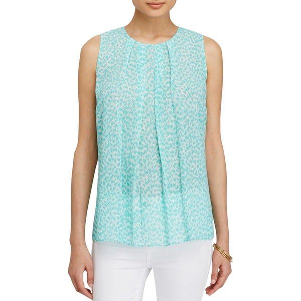 924087c0d7220 Shop MICHAEL Michael Kors Womens Blouse Sleeveless Pleated - Free Shipping  On Orders Over  45 - Overstock.com - 13064080
