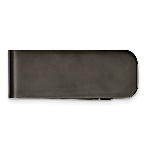Chisel Srm117 Stainless Steel Polished Black Ip-Plated Money Clip