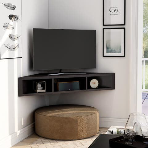 Copper Grove Sukhumi Wall-mounted Floating Corner Media Console