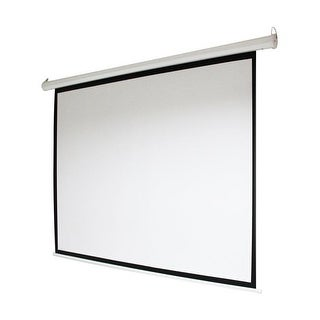 92 in. Motorized Drop Down Projector Screen 16-9 with Remote Control