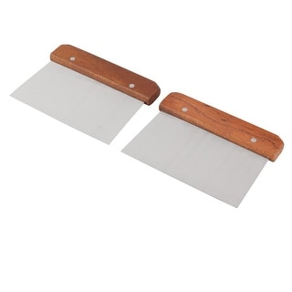 Link to Restaurant Wood Handle Metal Pizza Cake Dough Scraper Cutter 2pcs Similar Items in Cooking Essentials