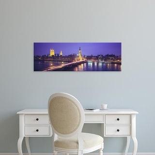 Easy Art Prints Panoramic Images's 'England, London, Parliament, Big Ben' Premium Canvas Art