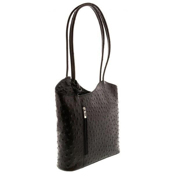 HS3005 PHOEBE Black Leather Hobo Shoulder Bag - 12-10-3.5