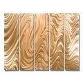 Statements2000 Huge Light Copper Modern Abstract Metal Wall Art Painting by Jon Allen - Copper Hypnotic Sands Epic - Thumbnail 2