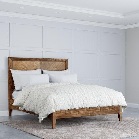 Abbyson Retro Mid Century Wooden Platform Bed