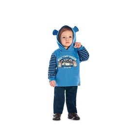 Baby Boy Outfit Bear Hoodie Sweater Jacket and Pants Set Pulla Bulla 3-12 Months