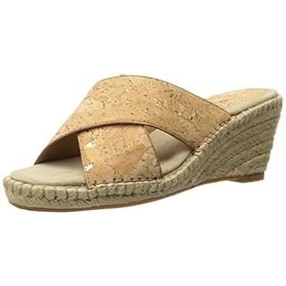 Johnston & Murphy Womens Arlene Espadrille Cork Wedge Sandals - 6.5 medium (b,m)