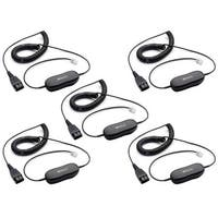 Jabra GN1200 7-Foot Coiled Smart Cord w/ Built-in Low Current Microphone Amplifier- 5 Pack