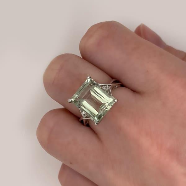 5 Pcs 34.50 Cts Loose Green Amethyst Octagon Loose Gemstone Size 10X14 MM H2588