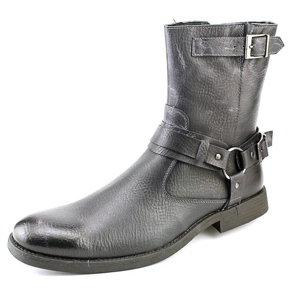 Robert Wayne Easton Men Leather Black Motorcycle Boot