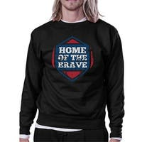 Home Of The Brave Unisex Graphic Sweatshirt Black Crewneck Pullover