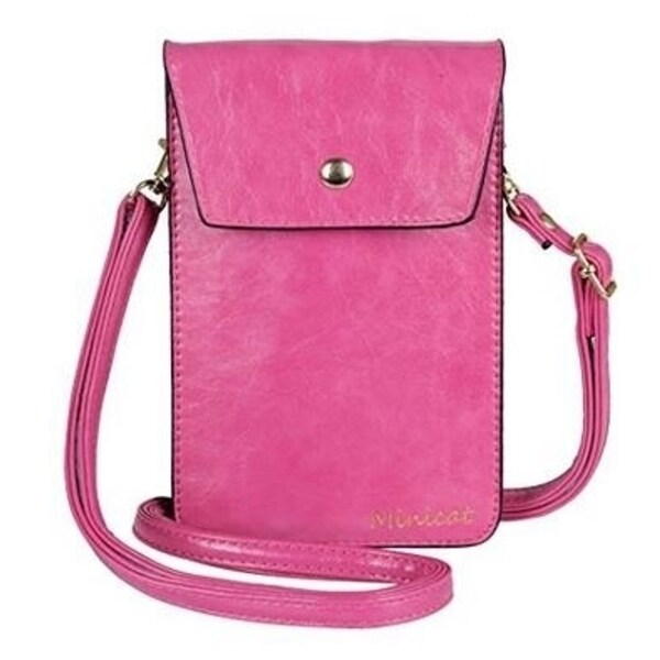 09525d7c83e2 PU Leather Small Crossbody Bag Wallet Purse Cellphone Pouch with Shoulder  Strap for Women Girls