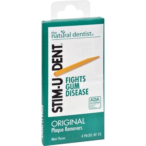 Natural Dentist Stim-U-Dent Original Plaque Removers Mint - 100 Toothpicks - Case of 12