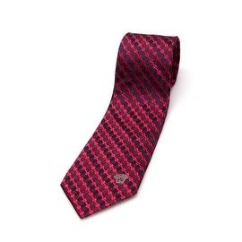Versace Men Slim Silk Neck Tie CR8LSEB0740 0001 Red Black