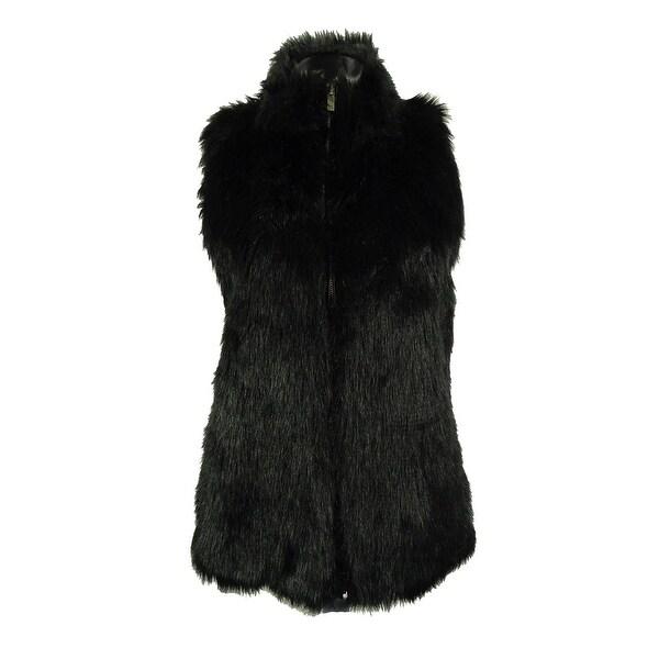 Confess Juniors' Faux Fur Sweater Vest