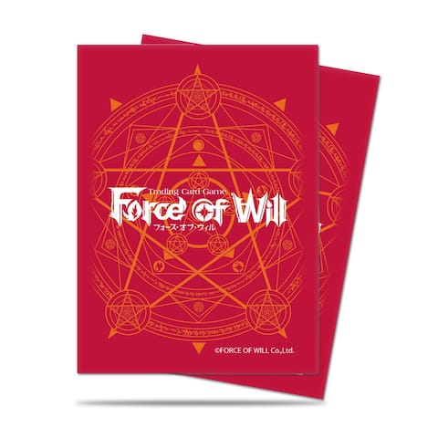 Red Card Back Standard Deck Protectors for Force of Will, 65ct - multi