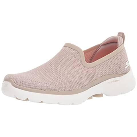 Skechers Women's GO Walk 6-Clear Virtue Sneaker, Natural