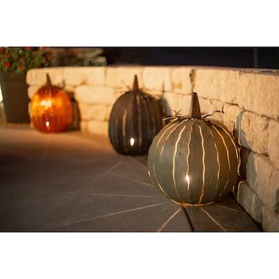 Steel Autumn Pumpkin Luminary