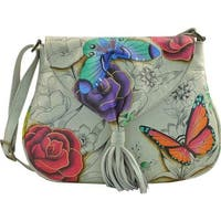 ANNA by Anuschka Women's Hand Painted Flap Hobo 8286 Floral Paradise - us women's one size (size none)