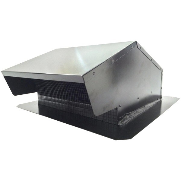 "Builders Best 012634 Black Metal Roof Vent Cap (6""-8"" (3 1/4"" X 10"") Universal Flush)"