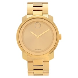 Movado Men's Slightly Blemished 3600258 'Bold' Goldtone Champagne Dial Bracelet Watch