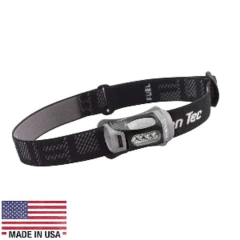 "7"" Black and Gray Contemporary Tec Fuel LED Headlamp"