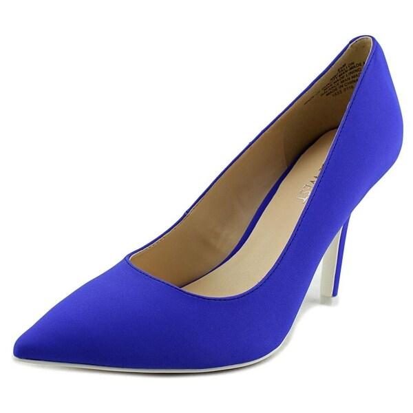 Nine West 7 Tallon Women Pointed Toe Synthetic Blue Heels