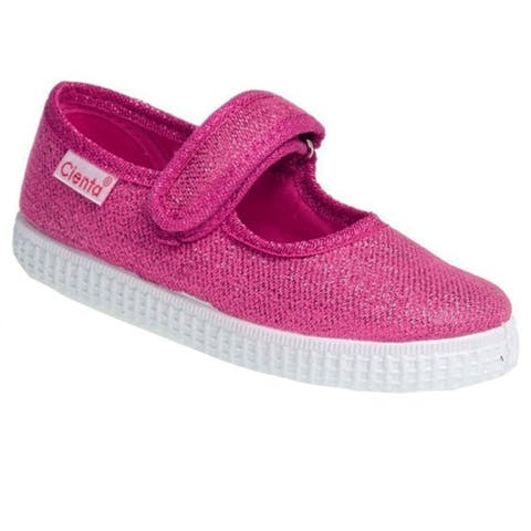 Cienta Girls Fuchsia Shimmery Finish Hook-And-Loop Strap Casual Shoes - 4