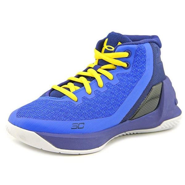 b2ac9b270fc2 Under Armour PS Curry 3 Youth Round Toe Synthetic Blue Basketball Shoe