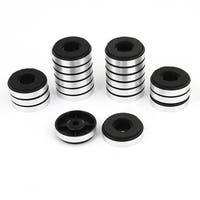 Unique Bargains 20pcs 30mm x 8.5mm Round Isolation CD Player Audio Speaker Feet Pad Stand