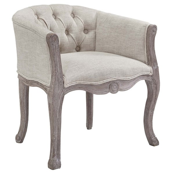 Crown Vintage French Upholstered Fabric Dining Armchair - n/a. Opens flyout.