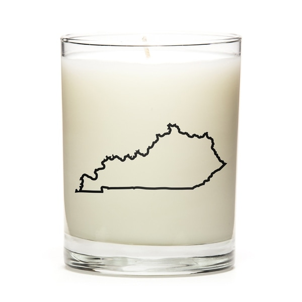 Custom Candles with the Map Outline Kentucky, Fine Bourbon