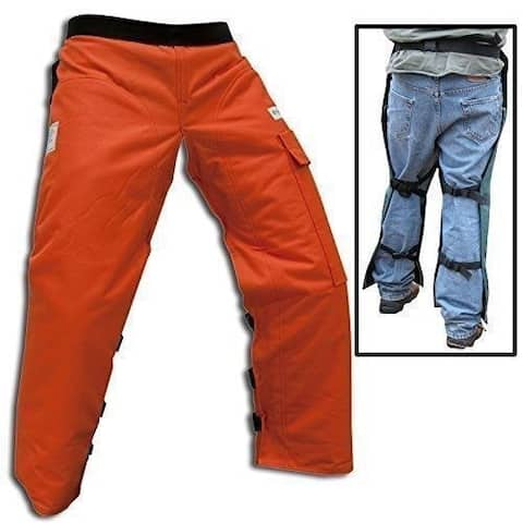Forester Chainsaw Apron Chaps with Pocket, Orange 36 Length CHAP437-O