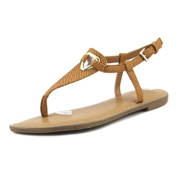 Bar III Velvet Women Light Cognac Sandals