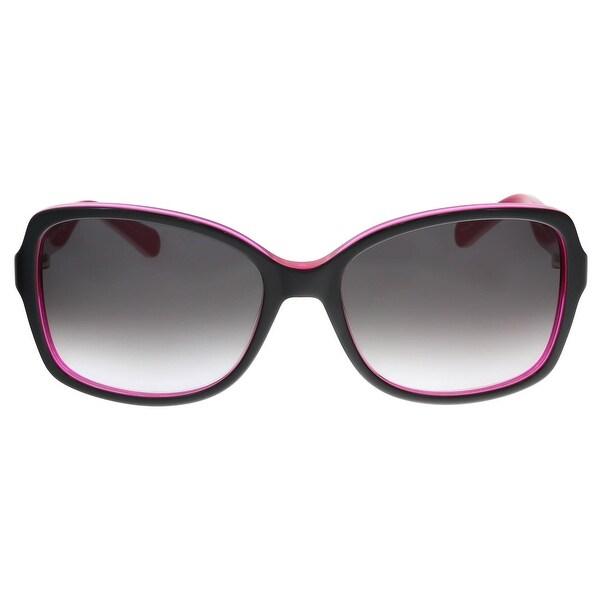 e6d5b773f4bf Shop Kate Spade - Ayleen/S 0S27 Black Pink Rectangle Sunglasses - 56 ...
