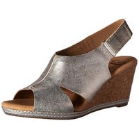 CLARKS Womens Helio Float Open Toe Casual Platform Sandals