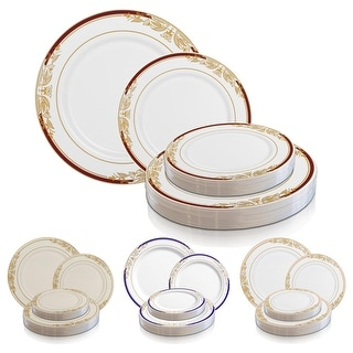 Link to Gold Harmony Rim Disposable Plastic Plate Packs - Party Supplies Similar Items in Dinnerware