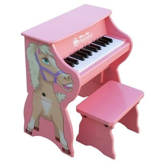 Pink 25 Key Horse with Bench