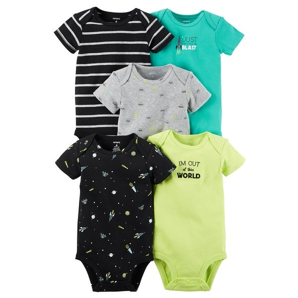 5a1b2b8f1 Shop Carter's Baby Boys' 5 Pack Bodysuits- Space (Newborn) - Free Shipping  On Orders Over $45 - Overstock - 27382138