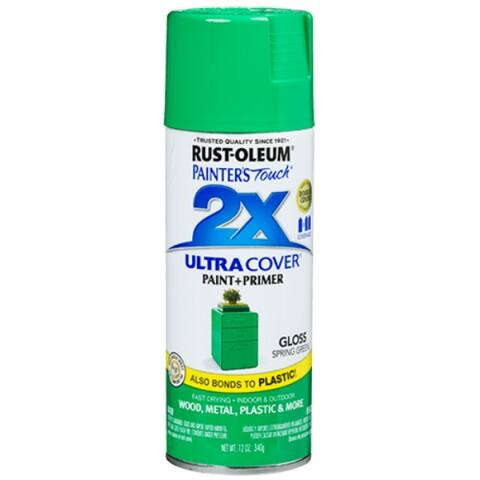 Rust-Oleum 314751 Painter's Touch 2X Ultra Cover Gloss Spray, Spring Green, 2 Oz