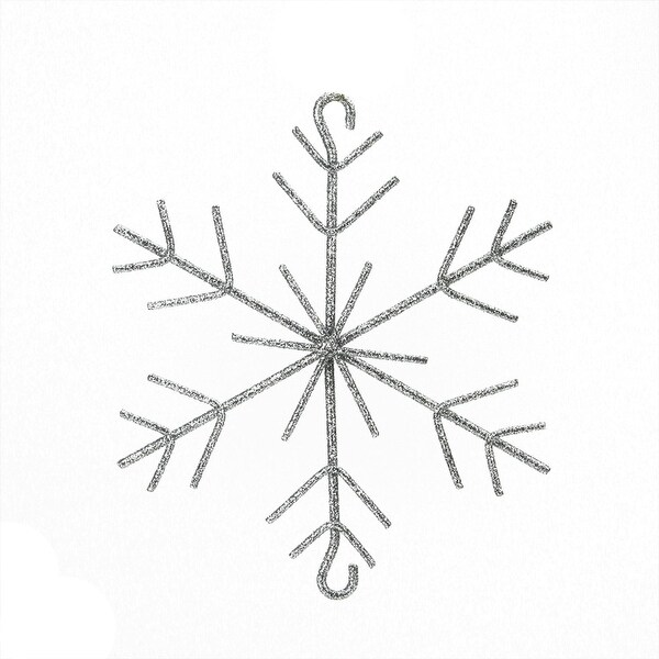 "5"" Silver Splendor Glittered Christmas Build-a-Garland Snowflake"