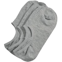 Unique Bargains Mens Short Gray Elastic Low Cut No Show Footie Boat Socks 2 Pairs