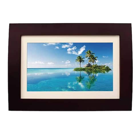 SYLVANIA SDPF1089 Digital Photo Frame Wood Finish 2GB w/ USB/SD Manufacturer Refurbished