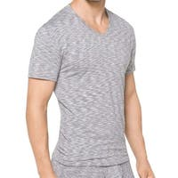 Michael Kors Gray Men's Size Medium M  Dyanmic Stretch V-Neck Shirt